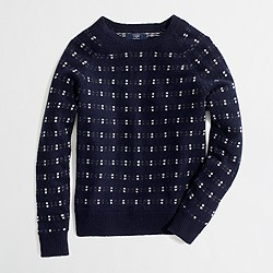 Factory lambswool dotted sweater