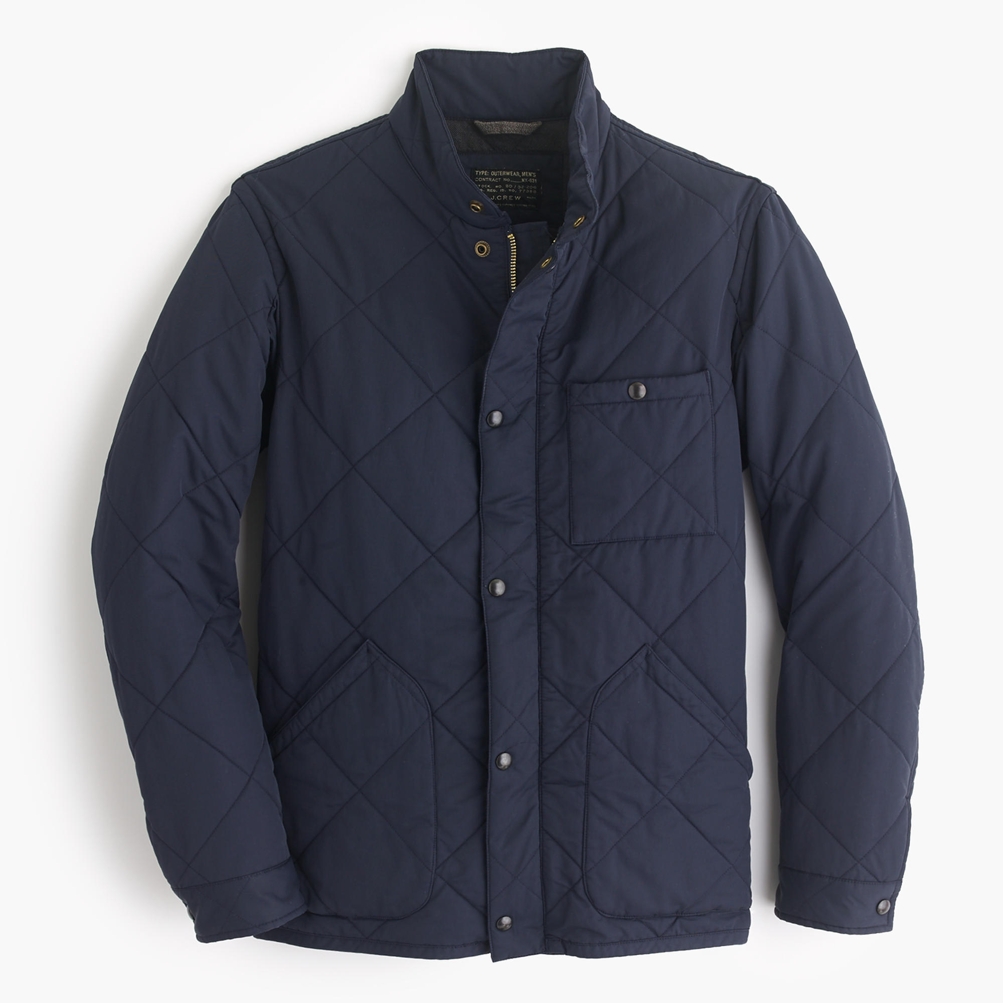 Sussex Quilted Jacket : Men's Coats & Jackets | J.Crew : mens navy quilted coat - Adamdwight.com