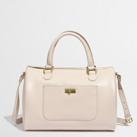 Factory leather Dorset satchel