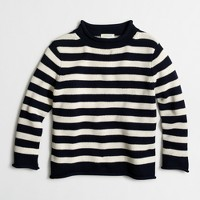 Boys' rugby-striped rollneck™ sweater