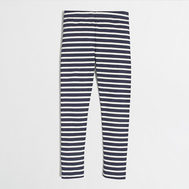Factory girls' leggings in navy stripe