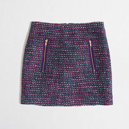 Factory tweed gold-zip mini
