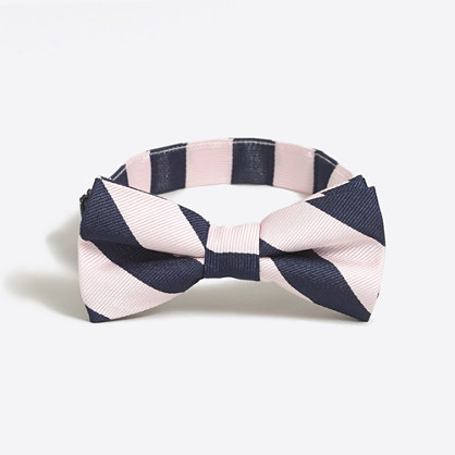 Boys' patterned silk bow tie