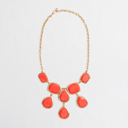 Factory teardrop bib necklace