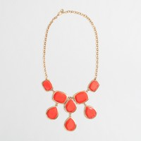 Factory teardrop bib necklace
