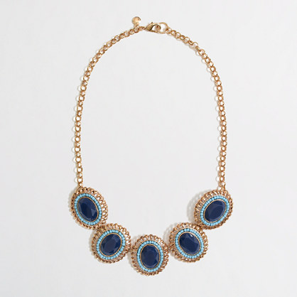 Factory stone and bead cameo necklace