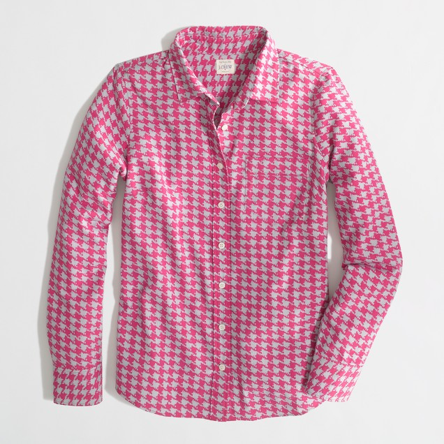 Factory classic button-down shirt in printed flannel