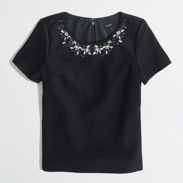Factory jeweled necklace top