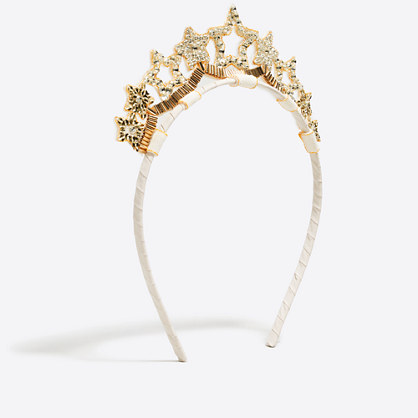 Girls' starry tiara headband