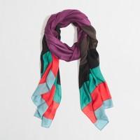 Factory oversize stripe scarf