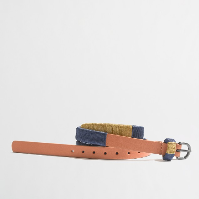 Factory colorblock belt