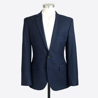 Slim Thompson suit jacket with double vent in wool flannel