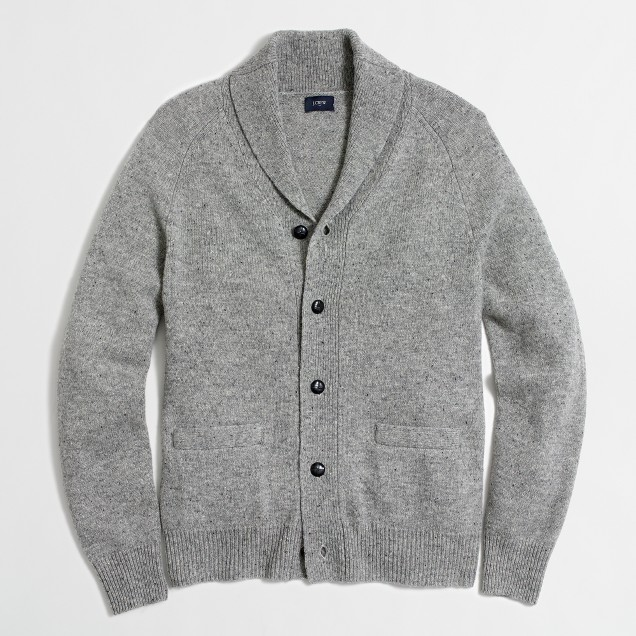 Donegal cardigan sweater