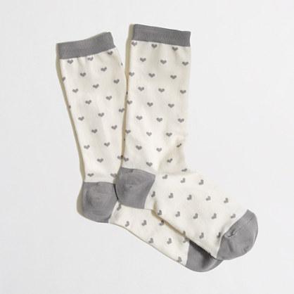 Factory heart trouser socks