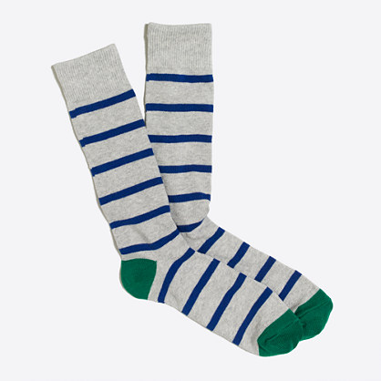 Tipped-stripe socks