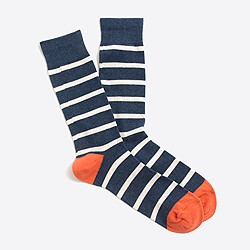 Tipped-stripe socks