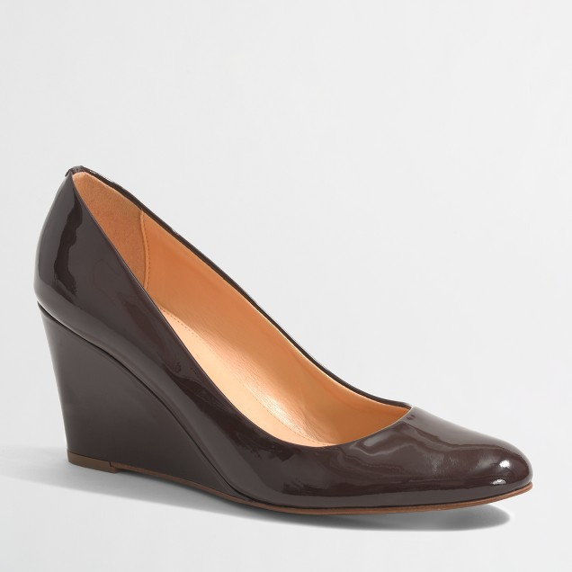 Factory Sylvia patent leather wedges