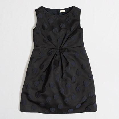 Factory girls' pleated dot dress