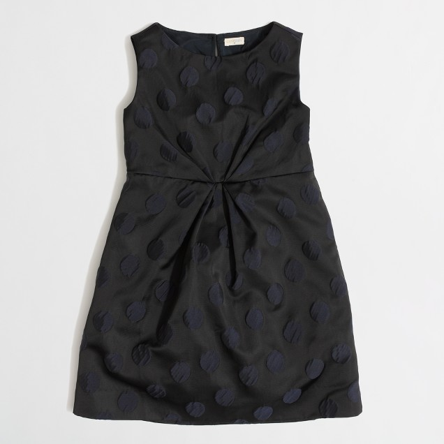 Factory girls' pleated dot dress