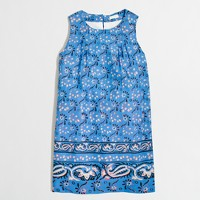Girls' printed bow-back dress