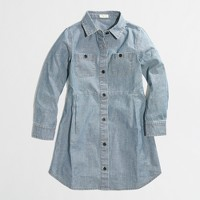 Factory girls' chambray shirtdress