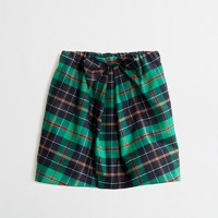 Factory girls' tartan bow skirt