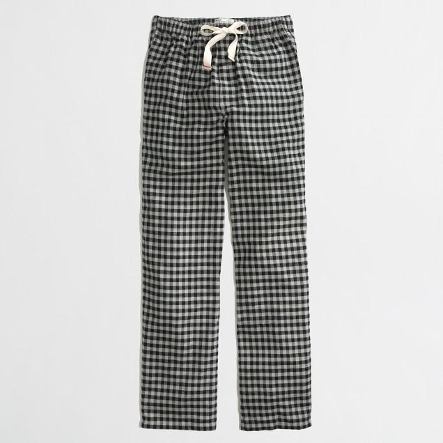 Factory buffalo check flannel pajama pant
