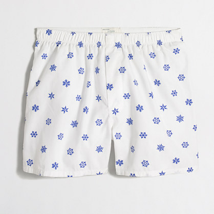 Factory snowflake boxers