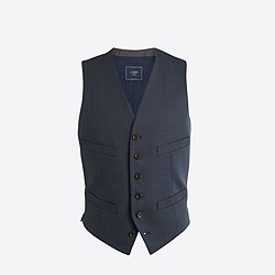 Factory Thompson suit vest in worsted wool