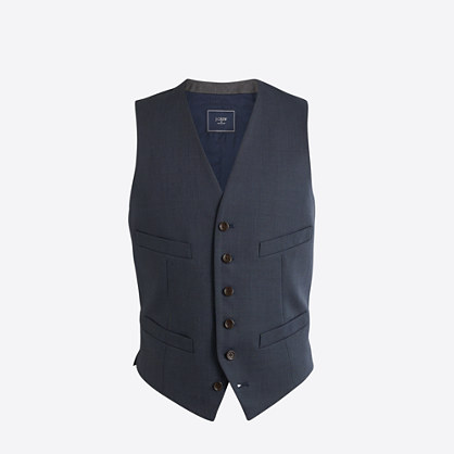 Thompson suit vest in worsted wool