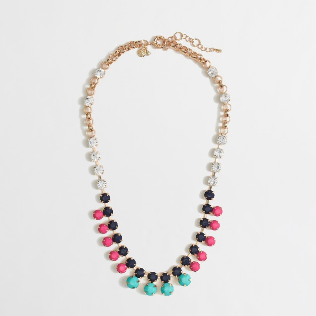 Factory crystal dot necklace