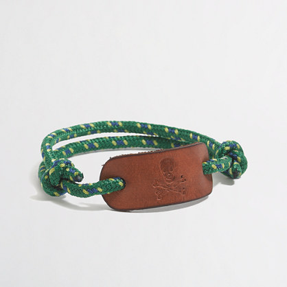 Factory boys' skull rope bracelet