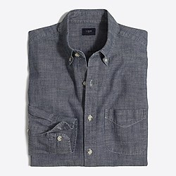 Chambray one-pocket shirt