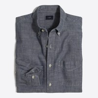 Chambray one-pocket shirt