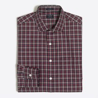 Thompson spread-collar dress shirt in green tartan