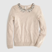 Factory jeweled Peter Pan collar sweater