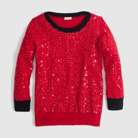 Factory scattered-sequin sweater