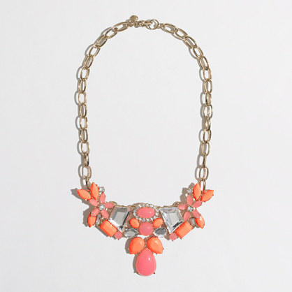 Factory flower cluster necklace