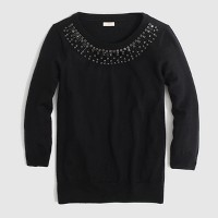 Factory jeweled-collar Charley sweater