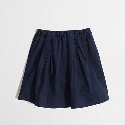 Factory girls' pull-on pleated skirt