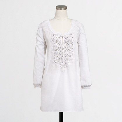 Factory embroidered tunic