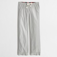 Factory flannel pajama pant in grey gingham