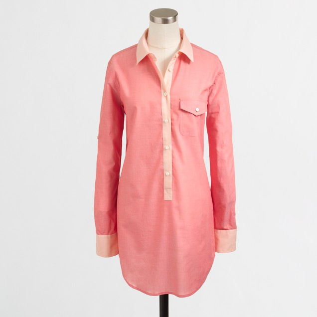 Factory colorblock chambray tunic