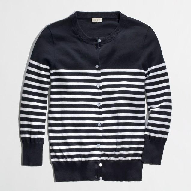 Factory Clare cardigan in drop stripe
