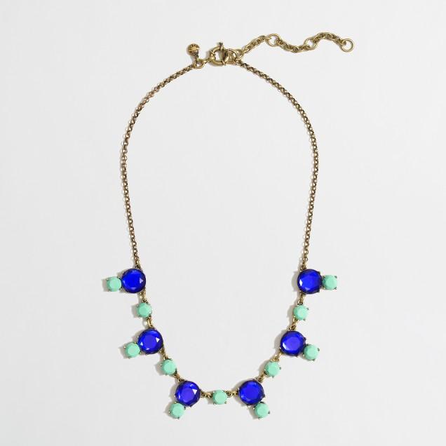 Factory stone drop necklace