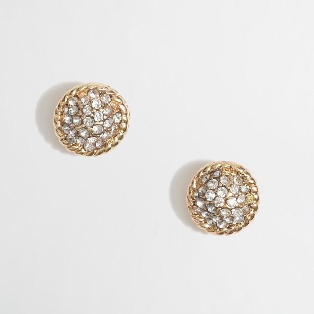 Factory rhinestone stud earrings