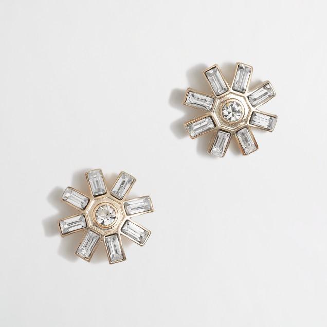 Factory sunburst stud earrings