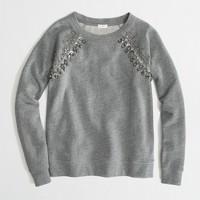 Factory jeweled raglan sweatshirt