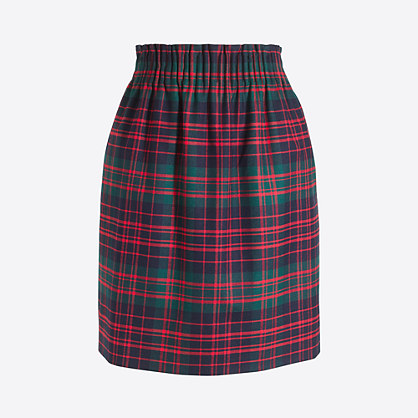 Pleated mini skirt in plaid