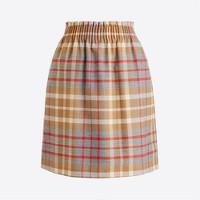 Wool sidewalk skirt in plaid